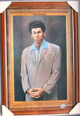 SEINFELD THE KRAMER framed POSTER Ready to Hang BROWN WOODEN FRAME WITH GLASS