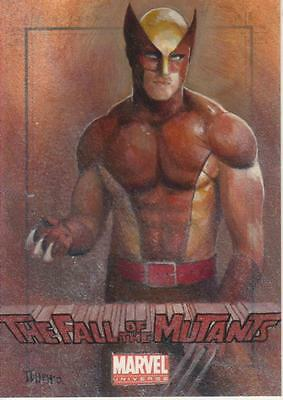 Marvel Universe 2011 - Color Sketch Card by Charles Hall - Wolverine