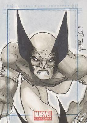Marvel Universe 2011 - Color Sketch Card by Cox - Wolverine