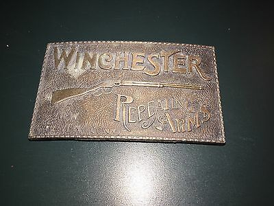 Vintage Winchester Repeating Arms Brass Belt Buckle- No Reserve!!
