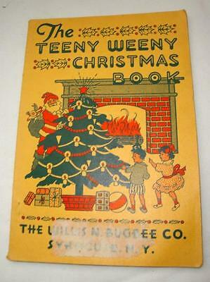Vintage 1936 Teeny Weeny Christmas Book - Songs, Plays, Recitations for Kids