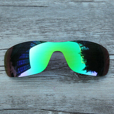 New Emerald Green Polarized Replacement lenses for-Oakley Batwolf