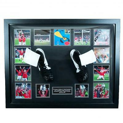 Sheringham & Solskjaer - Framed Signed Football Boots