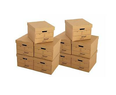 Economy Archive Storage Box With Lid Pack of 10