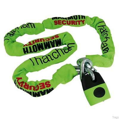 Mammoth Square Chain With Shackle Lock - 12Mm X 1.8M - Motorcycle Thatcham Sale