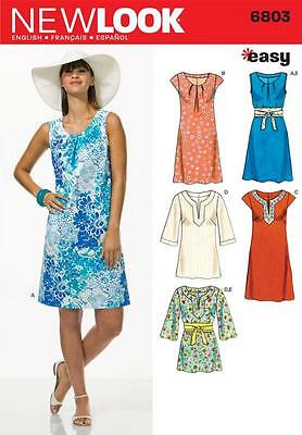 New Look Sewing Pattern Misses' Dresses & Tunics Sizes 10 - 22 6803