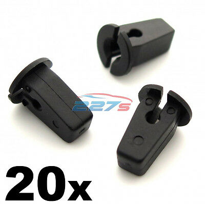 20x Plastic Lock Nuts / Grommets for Wheel arches, Bumpers, Panels & Shields