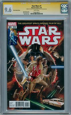 Star Wars #1 Ross Variant Cgc 9.6 Signature Series Signed Stan Lee 2015 Movie