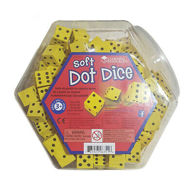 Learning Resources Soft Foam Dot Dice- Set of 200