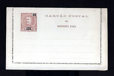 8114-S.THOME et PRINCIPE-OLD UNUSED LETTER CARD 50 Reis.Cartao postal.PORTUGAL.