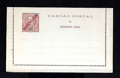 8121-S.THOME et PRINCIPE-OLD UNUSED LETTER CARD 50 Reis.Cartao postal.PORTUGAL.