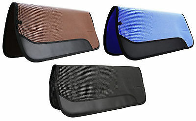 """Western Horse Non Slip Waffle Perforated Saddle Pad 30"""" X 32"""" With Wear Leathers"""