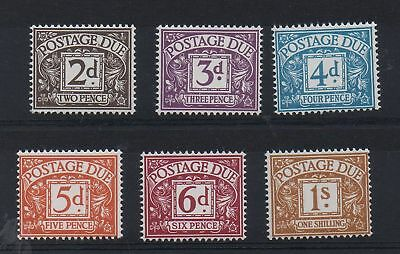 D69-D74. Set x 6 Postage Dues. Chalky. Superb unmounted mint.