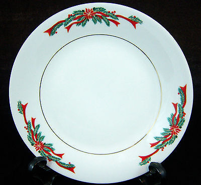 "Tienshan Poinsettia & Ribbon 7.5"" Salad Plate -SEVERAL AVAILABLE-Good Condition"