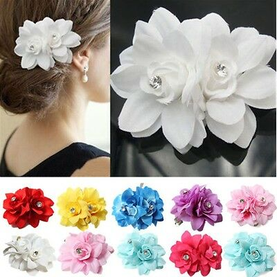 Beautiful Flower Hair Pin Clip Pin Hairband Bridal Wedding Party for Women UK