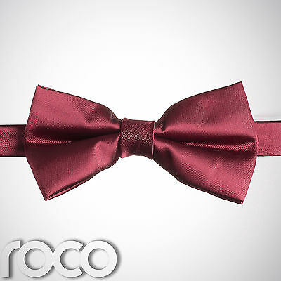 Boys Burgundy Banded Dickie Bow Tie Wedding Prom Page Boy Dickie Bows