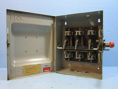 General Electric 60 Amp 600V TC35362 Double Throw Switch Manual Transfer GE 60A
