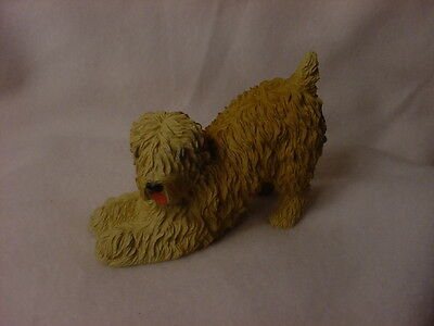 SOFT COATED WHEATEN TERRIER FIGURINE dog HAND PAINTED Statue puppy COLLECTIBLE