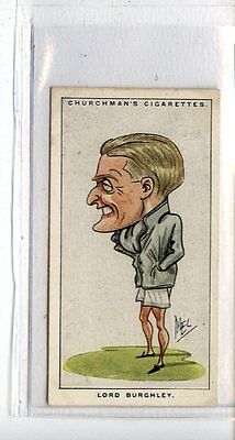 (Jc6709-100)  CHURCHMANS,MEN OF THE MOMENT IN SPORT,LORD BURGHLEY,1928,#1
