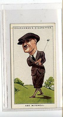 (Jc6759-100)  CHURCHMANS,MEN OF THE MOMENT IN SPORT,ABE MITCHELL,1928,#29