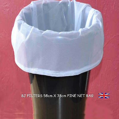 HOME BREW-WINE- STRAINING BAG WITH DRAW CORD 58 X 38cm FITS 25ltr FERMENTING TUB