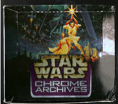 1998 Topps Star Wars chrome archives empty dispoay wax pck box