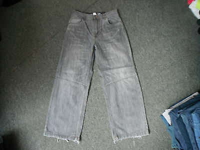 "George Loose Fit Jeans Waist 27"" Leg 24"" Black Faded Boys 9 - 10 Yrs Jeans"