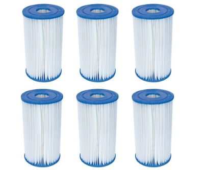 6 Bestway Type IV / B Filter Cartridges for 2500 GPH Above Ground Pool Filters