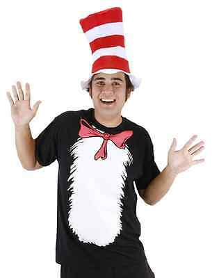 Dr Seuss The Cat In The Hat Adult T-Shirt and Hat Costume Kit XXL NEW SEALED
