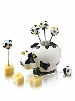 Boska Cow Shaped Party Cheese Pic Stick Serving Set 853704