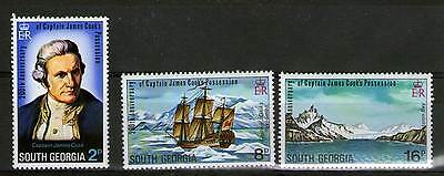 South Georgia 1975 Bicent Possession By Captain Cook Set 3
