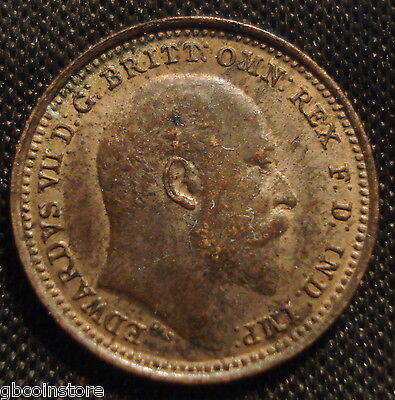 High Grade 1902 Edward Vii Third Farthing Some Lustre Sharp Detail Spink 3993