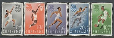 Suriname 1960 ** Mi.384/88 Olympische Spiele Olympic Games Basketball [sq4915]