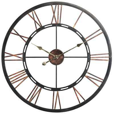Cooper Classics Mallory Clock, Aged Copper with Black Highlights - 40223