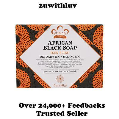 Nubian Heritage African Black Soap Bar 141G Acne Eczema Psoriasis New Packaging!