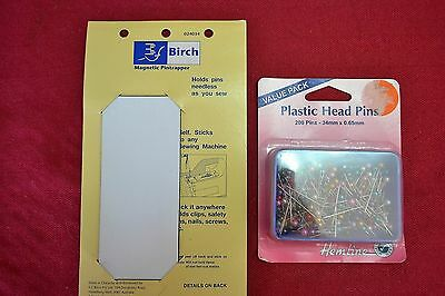 BIRCH MAGNETIC PIN TRAPPER plus 200 Plastic Head Pins
