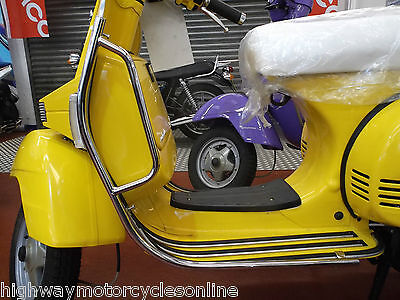 Vespa Px 125 Px125 Cuppini Usa Flush Fit Crash Protection Cover Chrome Bars