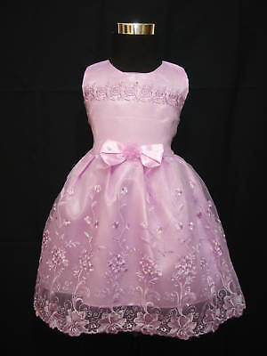 New Christening Wedding Party Pageant Dress+Bloomers