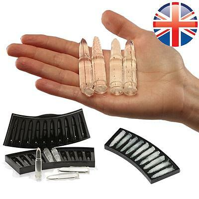 *UK Seller* Bullet AK47 Shaped Whiskey Ice Cube Tray Jelly Mould Mold Party
