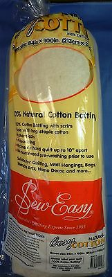 Sew Easy Cosy Cotton Batting - Queen Size