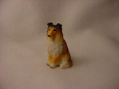 SHELTIE sable puppy TiNY FIGURINE Dog HAND PAINTED MINIATURE Mini Resin Statue