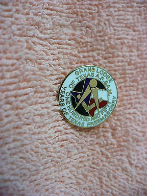 Qa- Grand Lodge 150 Years Of Texas Freemasonry (Af&am)  Pin #32473