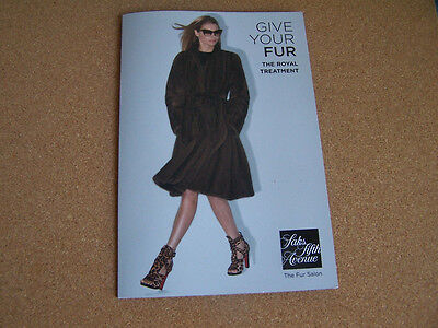 Saks Fifth Avenue Fur Brochure Royal Treatment 2014 Fashion Services Fur Coats