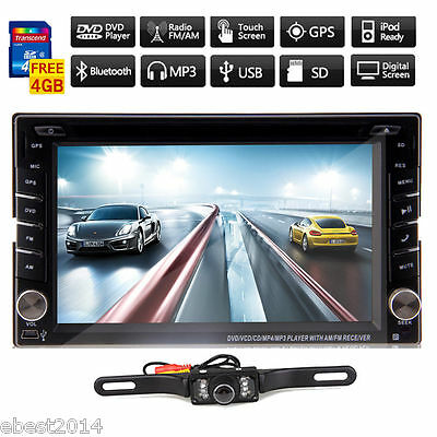 Windows 8 system 6.2 In-Dash Car DVD Player GPS Navigation Ipod Touch TV+Camera