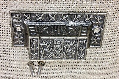 "Bin Pull drawer handle 3"" vintage old antique Windsor flower restored finish"