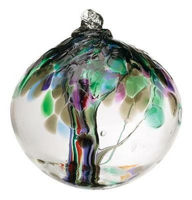 """Witch Ball Kitras 6"""" Tree of Enchantment """"Strength"""" Stained Glass SunCatcher (ST"""