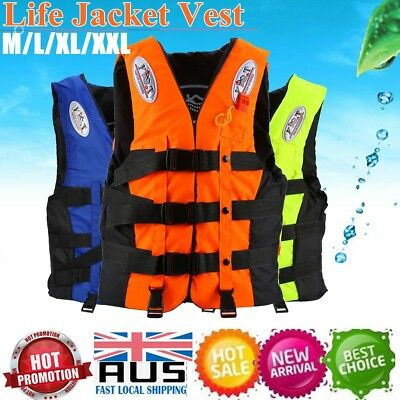 Safety Adult Swimming Buoyancy Aid Kayak Sailing Foam Life Jacket Vest + Whistle