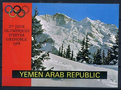 16-01-00327 - Yemen 1968 Mi.  707 BKL 100% Booklet -Olympic Grenoble, Gold
