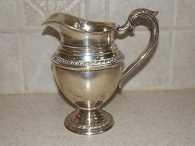 "International Silver English Gadroon Sterling Creamer 5"" Excellent Condition!"