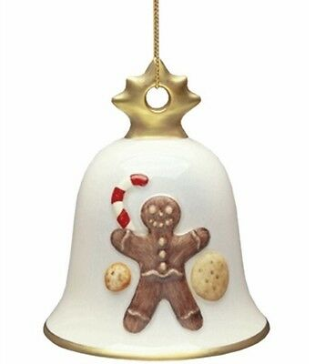 Goebel 2005 Christmas Bell Ornament NIB Gingerbread Man 102761 NEW IN BOX